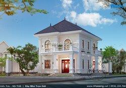 Thiết kế biệt thự vườn 2 tầng 4 phòng ngủ 100m2/sàn đẹp BT19119