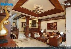 Nội thất phòng khách sofa gỗ hiện đai NT16501