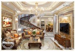 Thiết kế nội thất tân cổ điển biêt thự Pháp BT18101