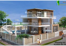 Thiết kế Biệt thự hiện đại 3 tầng BT14138 - Kiến trúc mẫu nhà đẹp