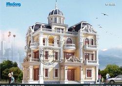 Thiết kế biệt thự kiểu lâu đài đẹp từ trong ra ngoài BT18111