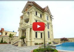 Video thi công hoàn thiện biệt thự Pháp 3 tầng đẳng cấp tại Thái Bình BT16001