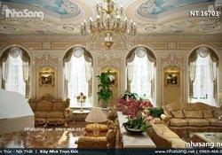 Mẫu thiết kế nội thất tân cổ điển royal siêu biệt thự lâu đài NT16703