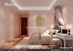Thiết kế nội thất biệt thự 2 tầng đẹp và sang trọng phong cách tân cổ điển Châu Âu NT16706