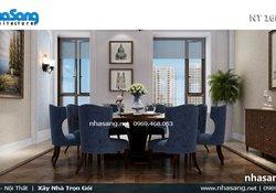 Thiết kế nội thất chung cư cao cấp tân cổ điển NT16607