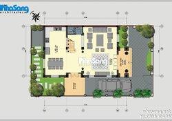 Biệt thự đẹp: 3 tầng 7,3m x 12m Kiến trúc Pháp BT14178