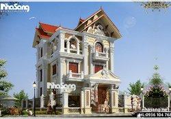 Biệt thự đẹp BT16001 - điểm nhấn kiến trúc tân cổ điển Pháp