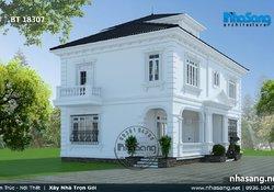 Mẫu biệt thự Châu Âu 2 tầng tinh tế tại Hòa Bình BT18307