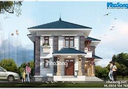 Thiết kế biệt thự nhà vườn đơn giản BT15028