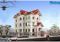 Biệt thự cao cấp: Hải Phòng BT14180 kiến trúc Pháp