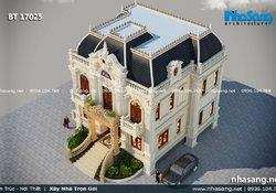 Mẫu biệt thự kiểu Pháp cổ điển 2 tầng BT17025