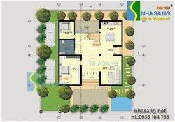 Mẫu thiết kế biệt thự tân cổ điển 3 tầng 12mx12m BT14083