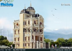 Lâu đài 4 tầng kiểu Pháp cổ điển BT16056