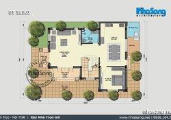 Nhà vườn 100m2 4 phòng ngủ kiểu Châu Âu sang trọng BT18303