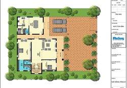 Mẫu biệt thự vườn 2 tầng Châu Âu 250m2 có khu bếp riêng biệt BT135