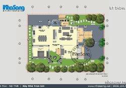 Mẫu thiết kế NHÀ BIỆT THỰ kiểu PHÁP đẹp 3 tầng 1 trệt mặt tiền 9,4m BT14146 - thiet ke nha 2 tầng dep