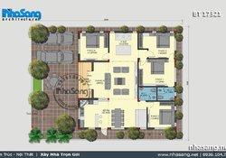 5 kiểu Biệt thự vườn 1 tầng 4 phòng ngủ | 999 Nhà vườn đẹp cập nhật liên tục