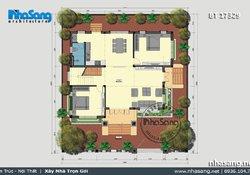 Mẫu biệt thự 2 tầng mái thái đẹp sang trọng tại Thanh Hóa BT17329