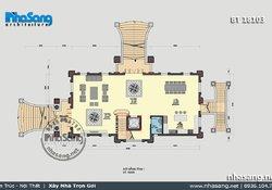 Biệt thự Như Ý không góc chết từ ngoại thất đến tất cả các không gian nội thất bên trong BT18103