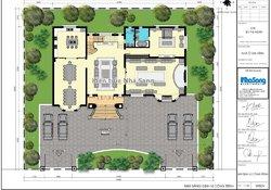 Thiết kế dinh thự kiểu Pháp 300m2/sàn trên đất hơn 1000m2 tại Hải Phòng BT19101