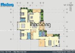 Nhà vườn 2 tầng đơn giản mái thái tại Phú Thọ BT17020