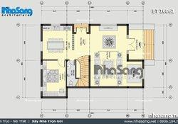 Biệt thự vườn 2 tầng mái thái độc đáo BT16061