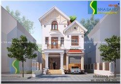 Mẫu thiết kế biệt thự tân cổ điển 3 tầng đẹp BT14115 - mẫu nhà phố