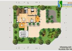 Mẫu biệt thự nhà vườn 3 tầng đẹp BT14127