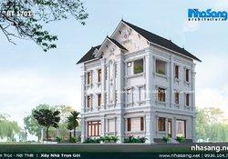 Mẫu biệt thự kiểu Pháp tân cổ điển sang trọng 3 tầng BT17014