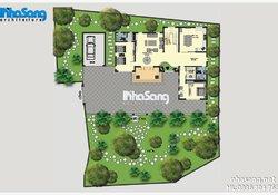 Mẫu thiết kế nhà vườn đẹp 2 tầng mái thái BT14177
