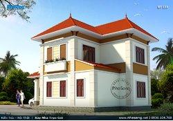 Mẫu nhà 2 tầng nông thôn 90m2 4 phòng ngủ BT133