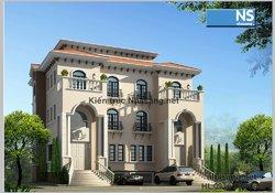 Mẫu thiết kế biệt thự đẹp sang trọng theo phong cách cổ điển BT403