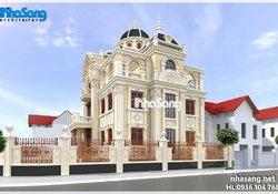 Mẫu thiết kế biệt thự lâu đài đẹp BT14183