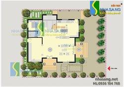 Mẫu thiết kế biệt thự tân cổ điển 3 tầng 11m x 13m BT14112 kiến trúc Nhà Sang
