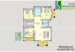 Thiết kế biệt thự Tân cổ điển đẹp kiểu Pháp 3 tầng 11m x 13m BT14120