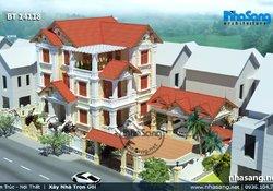 Mẫu thiết kế biệt thự TÂN CỔ ĐIỂN đẹp 3 tầng BT14118