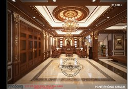 Nội thất gỗ quý của biệt thự đẹp nhất chùa Hương BT18111