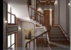 Thiết kế nội thất gỗ biệt thự cổ điển sang trọng BT18109