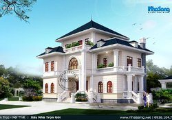 Thiết kế biệt thự Châu âu đẹp không tì vết tại Ninh Binh BT118