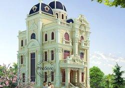 Thiết kế lâu đài 5 tầng kiểu Pháp