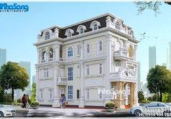 Biệt thự Pháp 3 tầng mặt tiền 9m kiên cố BT16023
