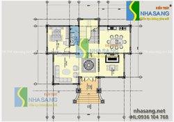 Thiết kế biệt thự tân cổ điển BT14113 kiến trúc Nhà Sang