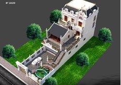 Thiết kế hài hòa biệt thự 2 tầng Nhà thờ và xưởng sản xuất BT18109