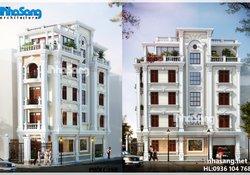 Thiết Kế Nhà ở liền kề 5 tầng Kiến trúc Pháp BT14153