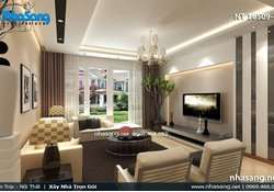 Thiết kế phòng khách 20m2 - 6 kiểu trang trí phòng khách 20m2 đẹp NT16509