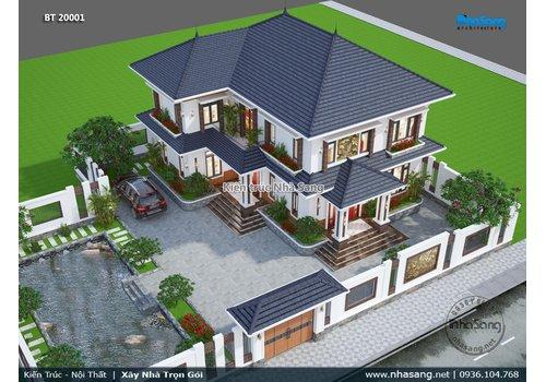 Thiết kế biệt thự vườn 2 tầng không gian thoáng đạt tại Bắc Ninh BT20001
