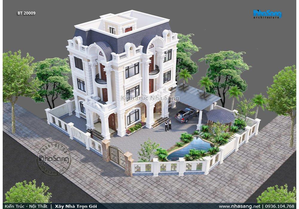 Xem 45 mẫu nhà biệt thự đẹp kiểu pháp 2-3-4 tầng   Bộ sưu tập 1500 nhà kiểu Pháp