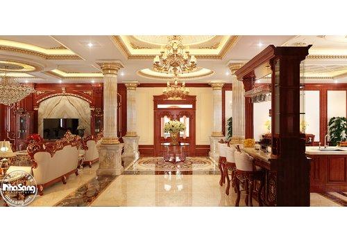 Choáng ngợp với nội thất biệt thự lâu đài triệu đô hoành tráng bậc nhất Sài Gòn NT2024