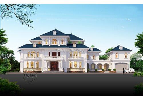 Ngắm mẫu siêu dinh thự Châu Âu 3 tầng 1800m2 sàn tuyệt đẹp tại Vĩnh Long BT2026