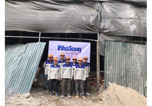 Công trường thi công biệt thự tân cổ điển mái thái 5 tầng + tầng hầm tại Hà Nội BT2030